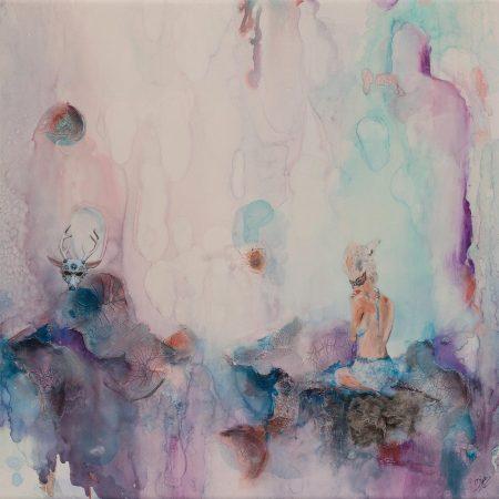 plaisirs-cachs_encres-dalcool_peinture-acrylique-fluide-dentelles-papiers-collage-mortier-et-mdiums-mixtes-sur-canevas-de-papier-terraksin_-20x20-pouces-51x51cm-